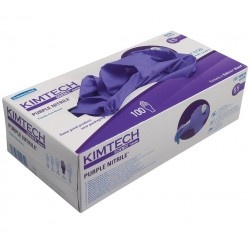 KIMTECH SCIENCE* PURPLE NITRILE* Nitrile Gloves, 24cm Ambidextrous, sizes XS to XL, purple