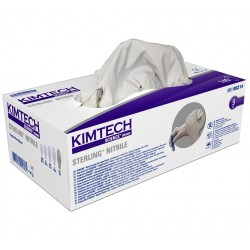 KIMTECH SCIENCE* STERLING* Nitrile Gloves, 24cm Ambidextrous, sizes XS to XL, grey
