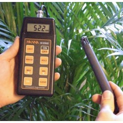 Portable Thermohygrometer with RH/°, sonde HI 70602, 1 m cable, battery