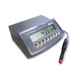 Table oxygen measuring device HI 2400-02 incl. probe HI 76407/2 w. 2 m cable, 2 membranes, electrolyt solution and 12 V adapter