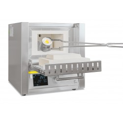 Muffle furnace L 9/13/B180 1300°C, controller B180, with brick insulation and flap door
