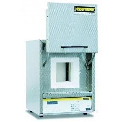 High temperature furnace HTC 08/15/P330 with controller P 330, max. 1500°C SiC rod heated, with clap door