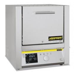 High temperature furnace HTC 08/16/P330 with controller P 330, max. 11550C SiC rod heated, with clap door