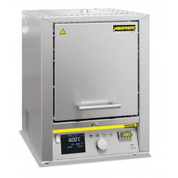 High temperature furnace HTCT 08/15/P330 with controller P 330, SiC rod heated, max. 1500°C
