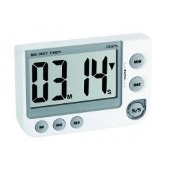 Electronical timer memory function, LED warning light, with magnet, stand and attachment eye