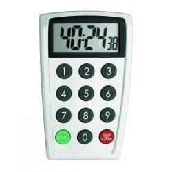 Electronical timer direct numerical entry, with stand, incl.batteries 2x 1,5V AAA