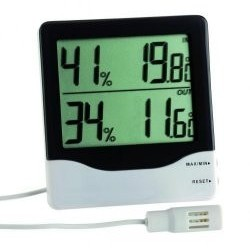 Electr. Thermo Hygrometer -10...+60°C / 10...99% max.-min.-function